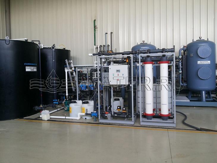 Рабочая система система ультрафильтрации воды для предприятия